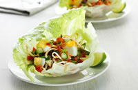 egg and lettuce salad cups