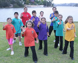 children doing tai chi